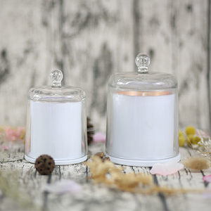 Wholesale Custom Scented Soy Candle for Supplies Romantic Wedding Bell Jar Glass Dome Cover