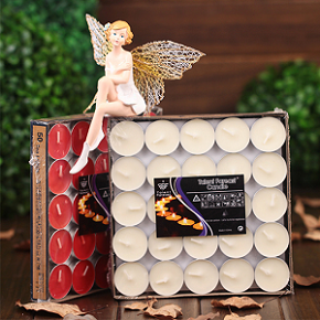 Wholesale Europe sells mini birthday scented tealight candle that can be placed in luxury glass jars as home decoration