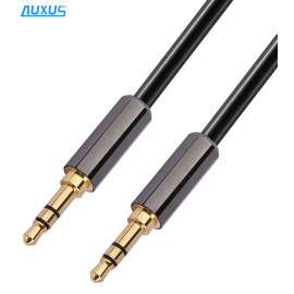 High quality 3.5mm stereo plug car audio aux cable with male to male for PC, MP3, smartphones
