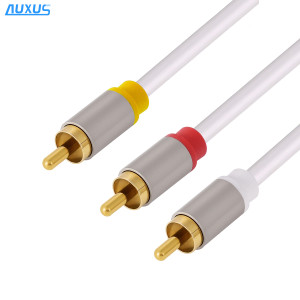 3RCA to 3RCA cable(Metal shell) High end RCA cable audio and video cable