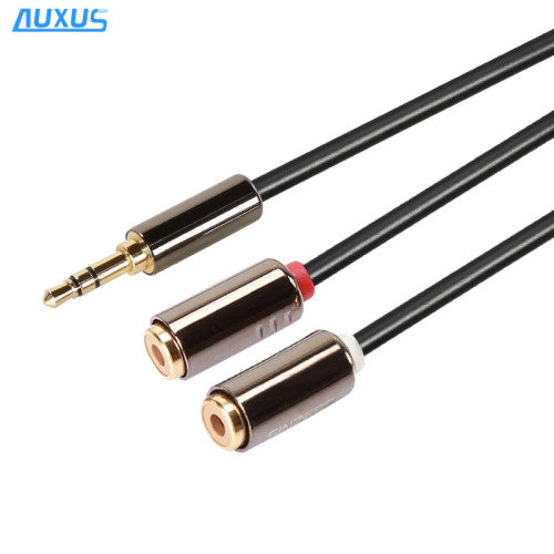 Best audio 3.5mm aux cable 2 female rca cable for extension, RCA Y adapter cable