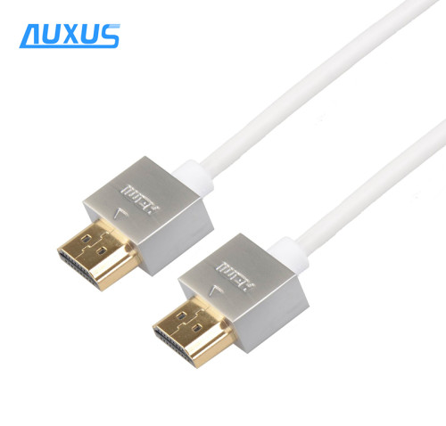 2M Metal casing Ultra Slim thin HDMI Cable 3d 4k