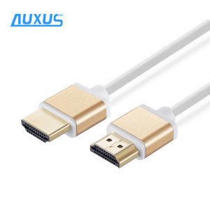 Metal Slim thin HDMI Cable with Ethernet support 4K*2K 1080P, 3D