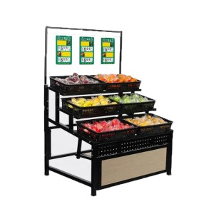 Hot sale supermarket vegetable and fruit display shelf