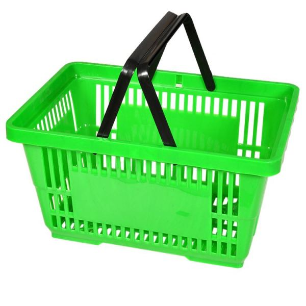 Recycled hand carry shopping basket