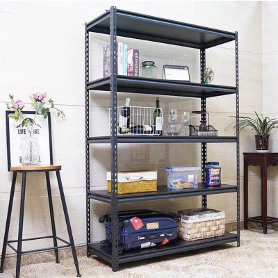 warehouse storage iron household slotted angle steel storage rack