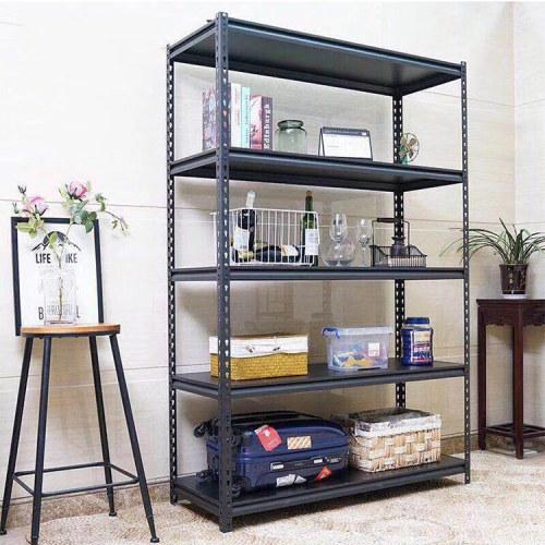 warehouse storage iron household slotted angle steel storage rack