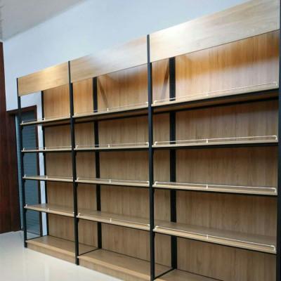 Steel and wood heavy duty shelve storage rack display shelf for shoppingmall or household