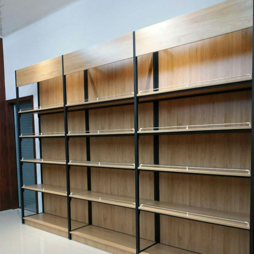 Steel and wood heavy duty shelve storage rack display shelf for shoppingmall or household