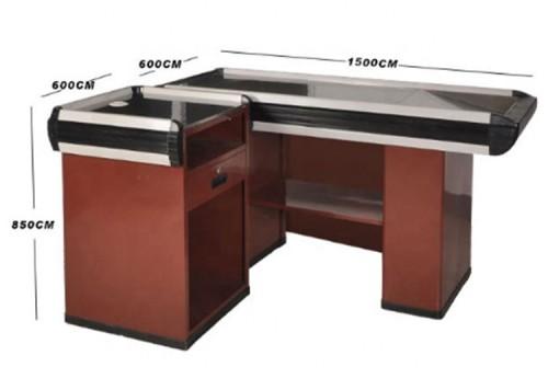 Easy supermarket checkout counter cashier desk