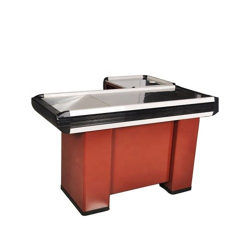 Shop supermarket cash table checkout counter for sale