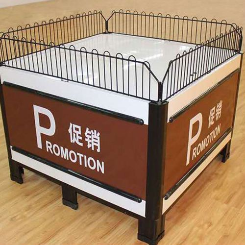 Abs/pvc high grade lower price supermarket display shelf promotion table
