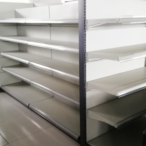 Divider for specialized production supermarket display metal shelf