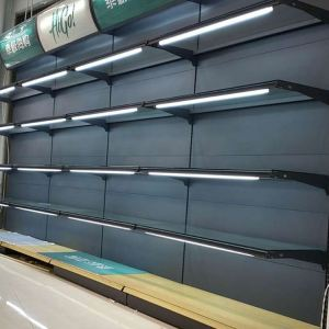 Small metal rack strong supermarket display shelf
