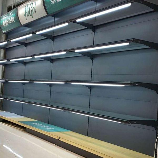 Small metal rack strong supermarket display shelf