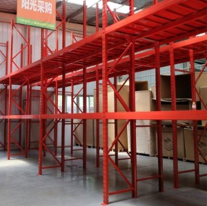 Multi-level steel plate medium pallet warehouse storage rack