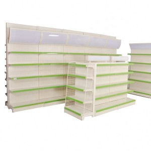 Store storage steel rack shelf supermarket gondola shelf retailer display shelves