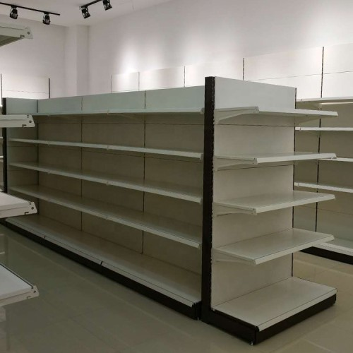 CRS convenience grocery corner shelves display store shelf