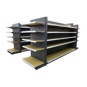 Drinks advertising steel shelves modern display supermarket shelf