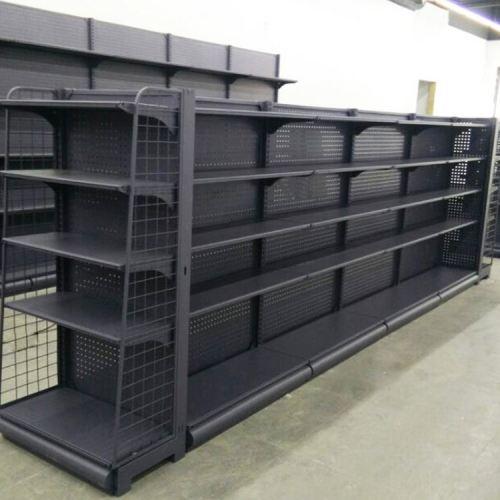 Drinks advertising steel shelves modern display supermarket shelf