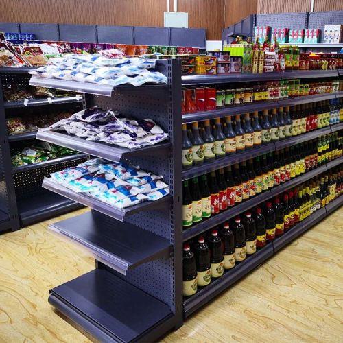 Double Sided Square Boltless supermarket shelving Fruit Vegetable Display Rack  Supermarket