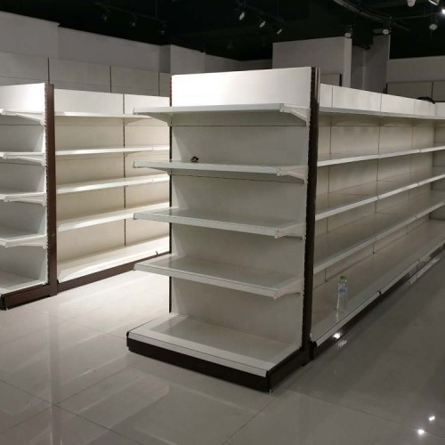 Supermarket metal storage shelves store/grocery steel display racks retailer gondola shelf