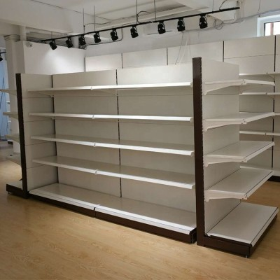 Supermarket metal storage shelves store/grocery steel display racks retailer gondola shelf