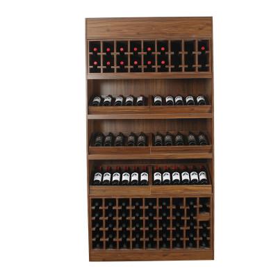 Wine display cupboard shelves with cabinet wooden steel shelf rack