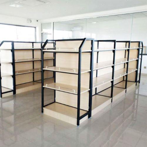 Heavy duty steel wood shelf display case shelve furniture rack