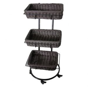 Rattan Woven  Display Rattan Baskets Food Rattan  Display Rack Plastic  Basket