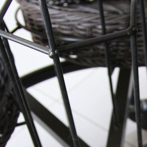 Pp Plastic Rattan Fruits Display Basket Imitation Rattan Display Baskets