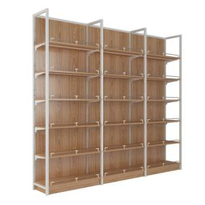Heavy duty steel wood shelf and display case shelve furniture rack
