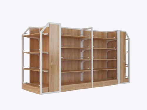 Heavy duty steel wood shelf and display case shelve furniture rack