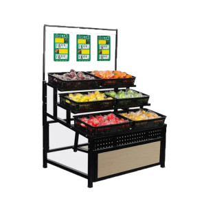 Supermarket vegetable and fruit display shelf rack good quality