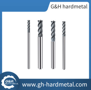 Flat end mills for graphite used on high speed CNC machines