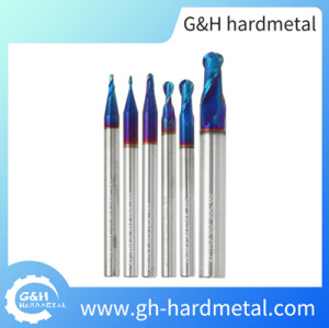 Standard Length 2 Flute Ball Nose Carbide End Mill Nano Coating
