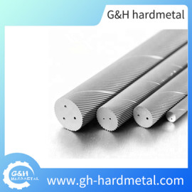High Quality Carbide Rods with Two Helical Coolant Holes