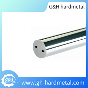 Sintered Tungsten Carbide Blank Rod with Double Helical Coolant Holes