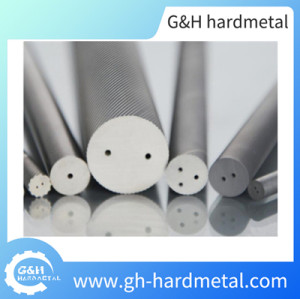 Tungsten Carbide Rods with Two Straight Holes 330mm