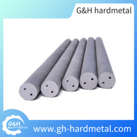 Carbide Rods with Helical Coolant Holes