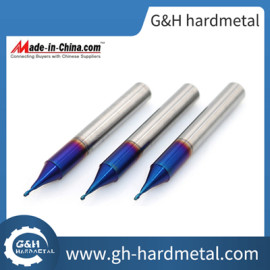 2 Flute Micro CNC Cutting Tools Ball Nose End Mill HRC60