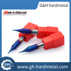 HRC60 Ball Nose 2 Flute Micro Grain End Mills with Naco-Blue Coating