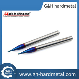 Ultra Micro Grain Carbide Ballnose End Mills for High Hardness Steel