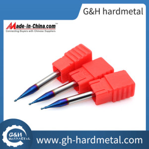 Micro Diameter Ballnose End Mill for High Hardness Steel