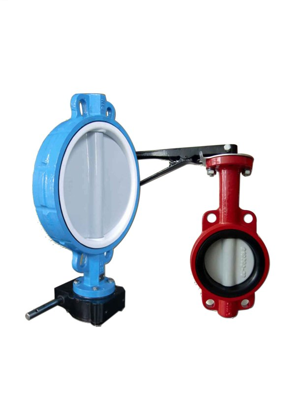 BUTTERFLY VALVE through shaft without pin valve