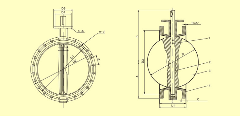 butterfly valve detail images