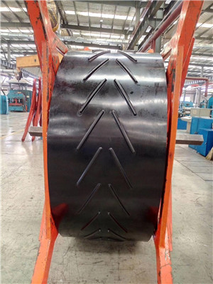 Abrasion resistance Chevron conveyor belt used in aggregate production
