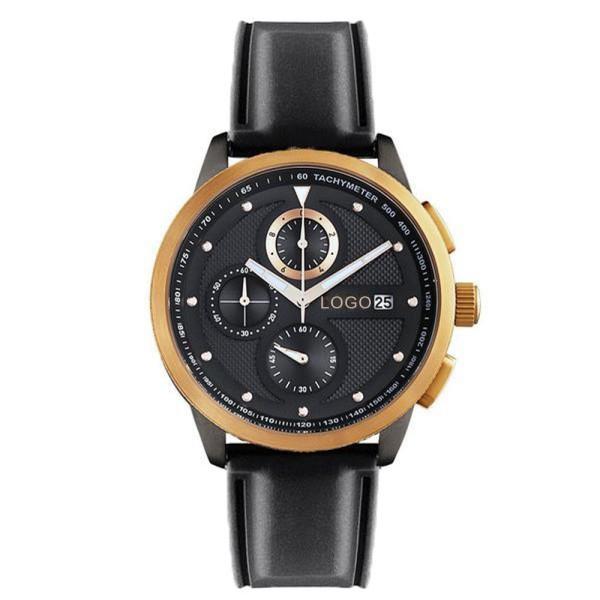 3-Augen-Chronographen-Uhrwerk mit wasserdichtem Kalendergehäuse aus Edelstahl zum Anpassen des eigenen Logos