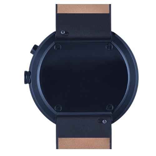 Reloj de pulsera de hombre con revestimiento PVD, movimiento de cronógrafo de 2 ojos, personalice su propio logotipo