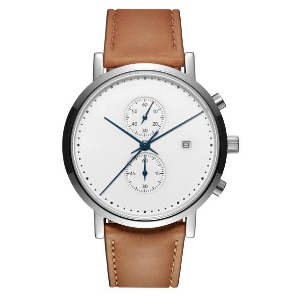 Reloj de pulsera con movimiento de cuarzo y cronógrafo de acero inoxidable para hombres